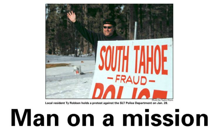 South Lake Tahoe Police protest