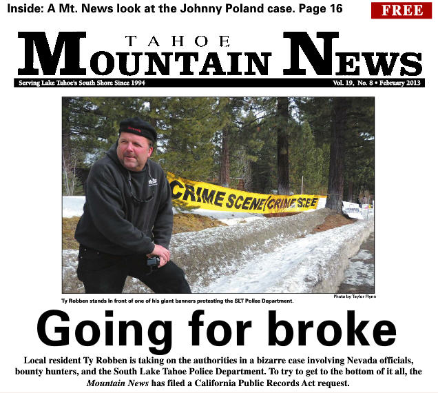 Lake Tahoe News covers South Lake Tahoe Police protest by Ty Robben