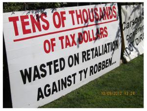 Taxpayer money spent on RETALATION