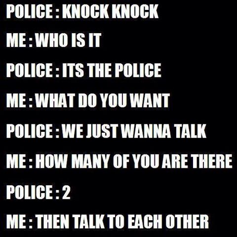 knock knock its the police